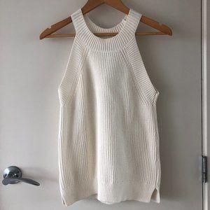 LOFT Cream Knit Tank
